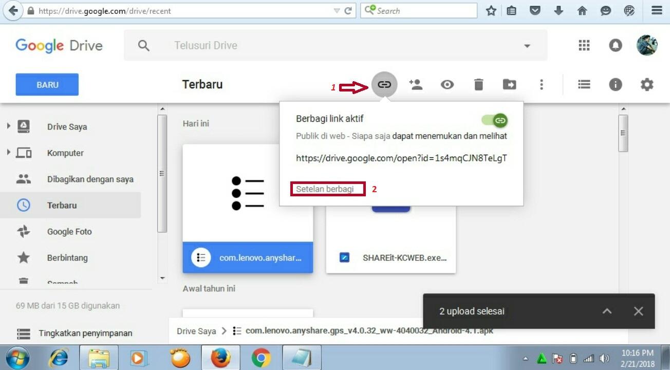 Cara Membuat Link Download Melalui Google Drive Mas Jokobek Blog