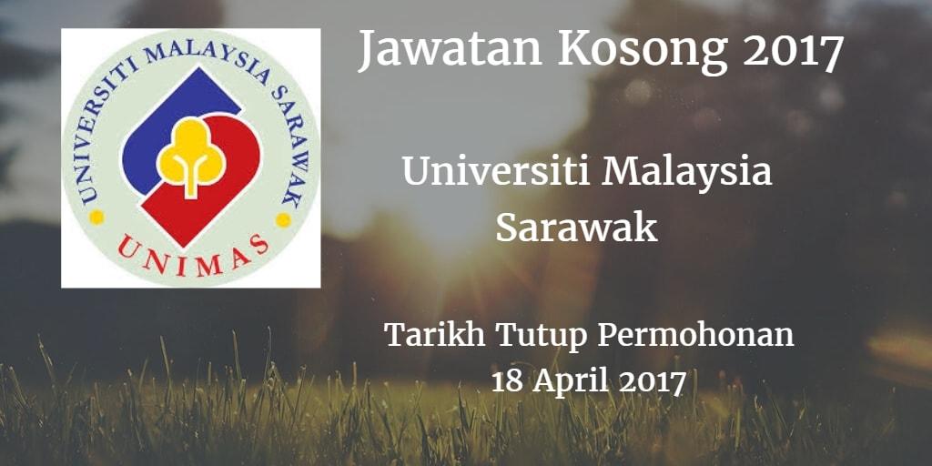 Jawatan Kosong UNIMAS 18 April 2017