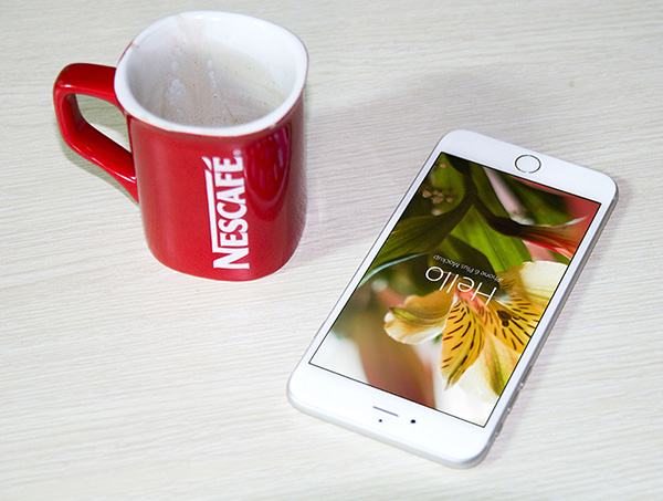 Download Coffee Mug Mockup PSD Terbaru Gratis - Free PSD iPhone 6 and Nescafe Coffee Cup Mockups in 4 Colors