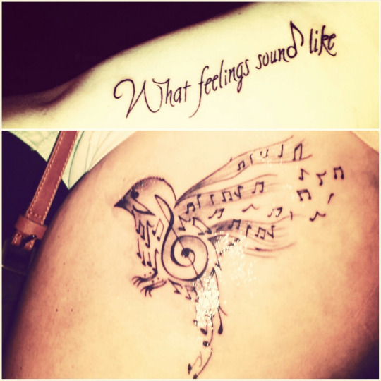 What Feelings Sound Like Music Tattoos