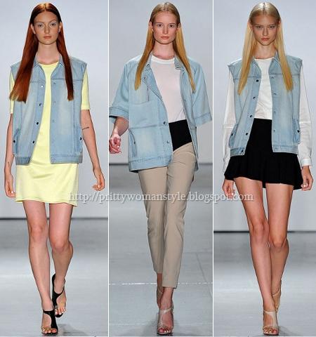 Дънкови якета без ръкави Tibi пролет-лято 2013