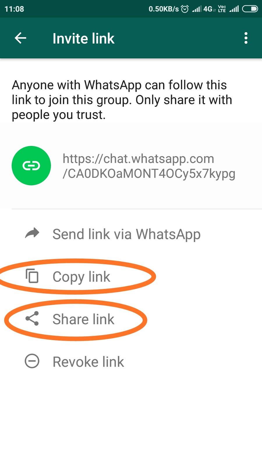 Whatsapp Group ka link kaise banaye || How to create