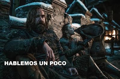 Arya Stark y El Perro en Game of Thrones 8x02