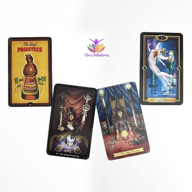 Tarot Cards Comparison - The High Priestess