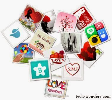 Love Apps Heart Shape Collage