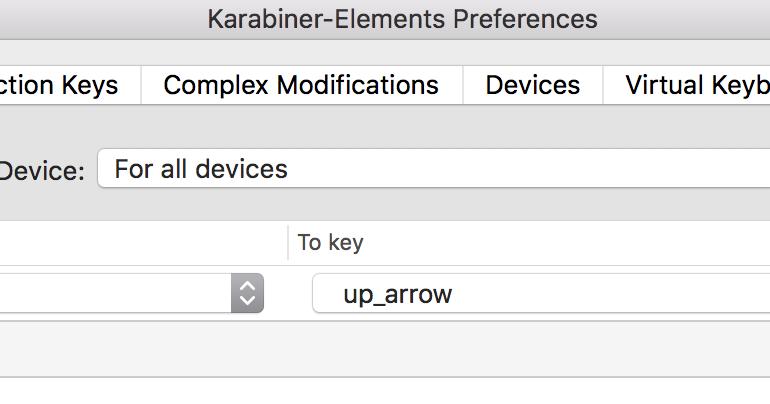 Atucom: Remap Right Shift To Up Arrow OSX