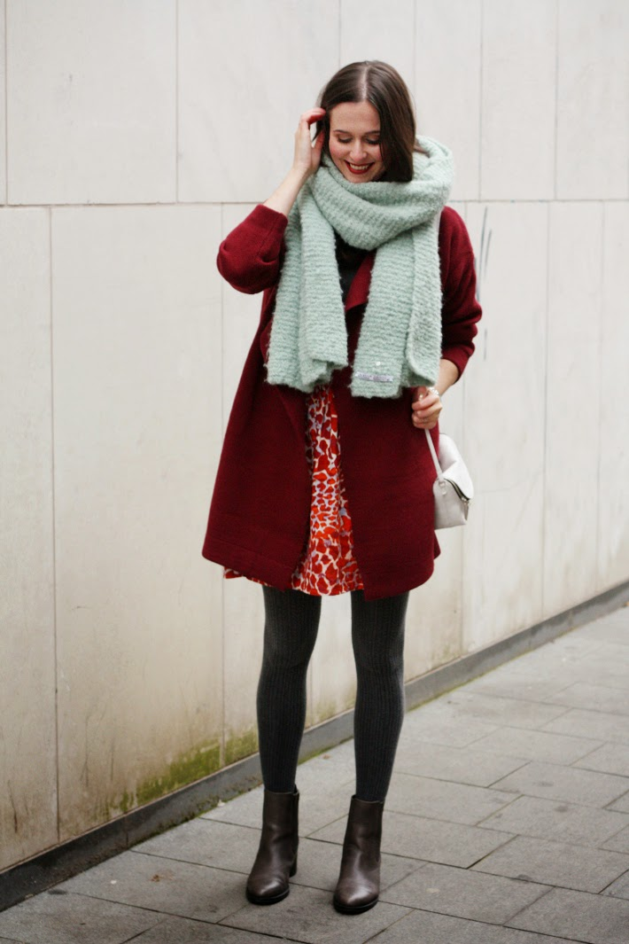 Mint and Burgundy