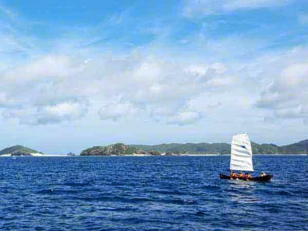 sabani sailing, boat,islands