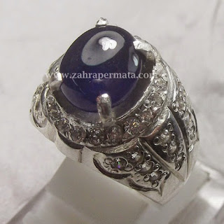 Cincin Batu Permata Blue Saphire - ZP 422