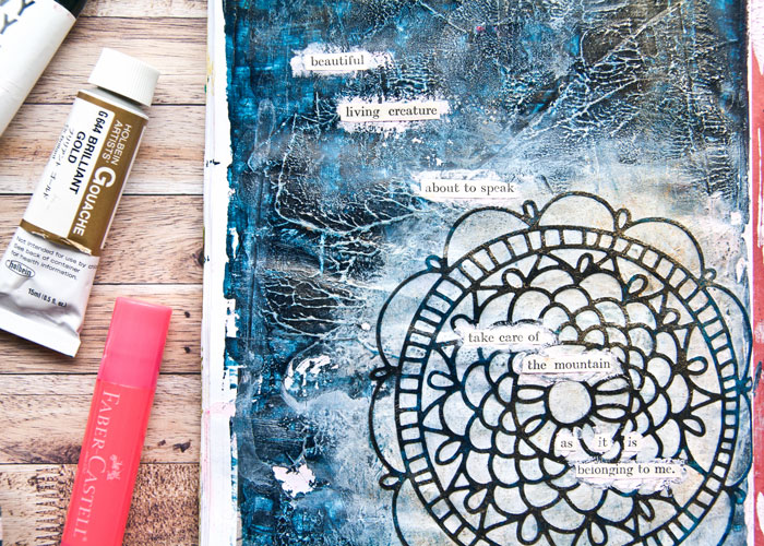 Close-up of the abstract ephemera story as inspired by Julie Kirk. Video by Kim Dellow