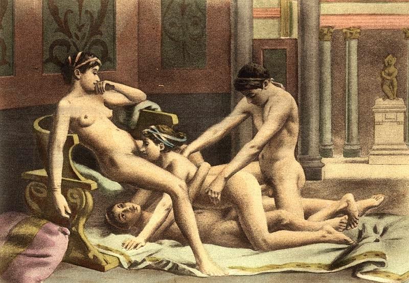Древние фото порно