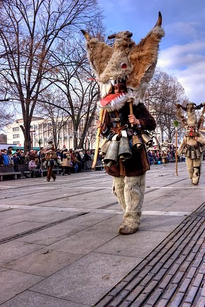 Kukeri festivals are celebrated throughout the Balkans. Photo: WikiMedia.org.