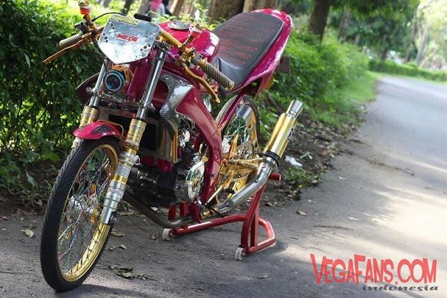 Vixion Modif Drag Bike Warna Ungu