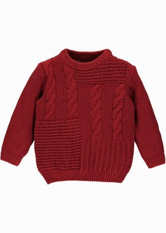 bd05d9894ce It's a fisherman's jumper supreme. This red crew neck knit ...