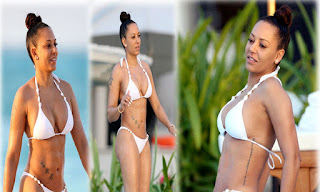Melanie Brown, White Bikini, Caicos Islands