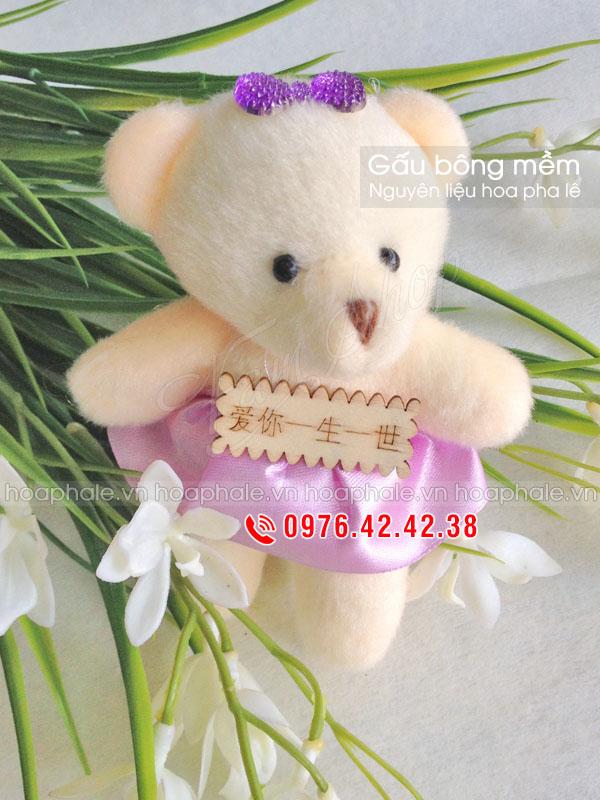 Gấu bông mềm phụ kiện trang trí