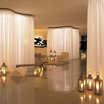 Dec a porter imagination home draping the walls for Delano hotel decor