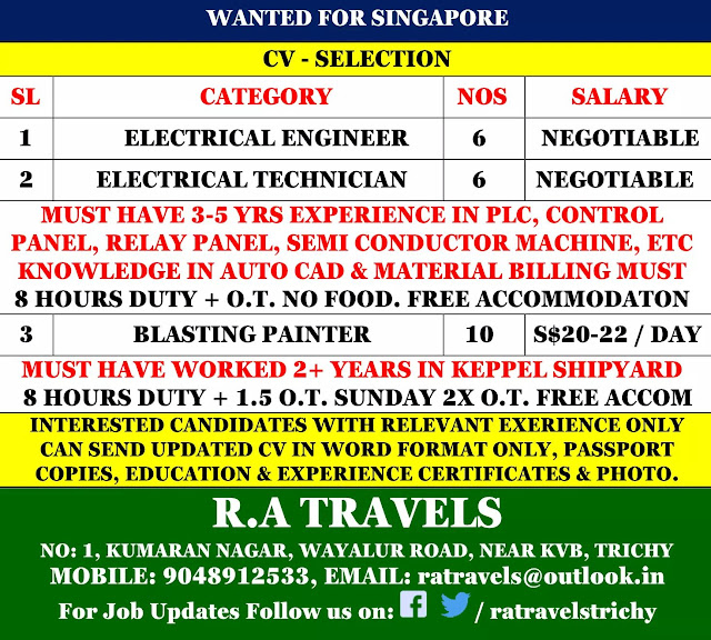 Wanted for Singapore-CV Selection