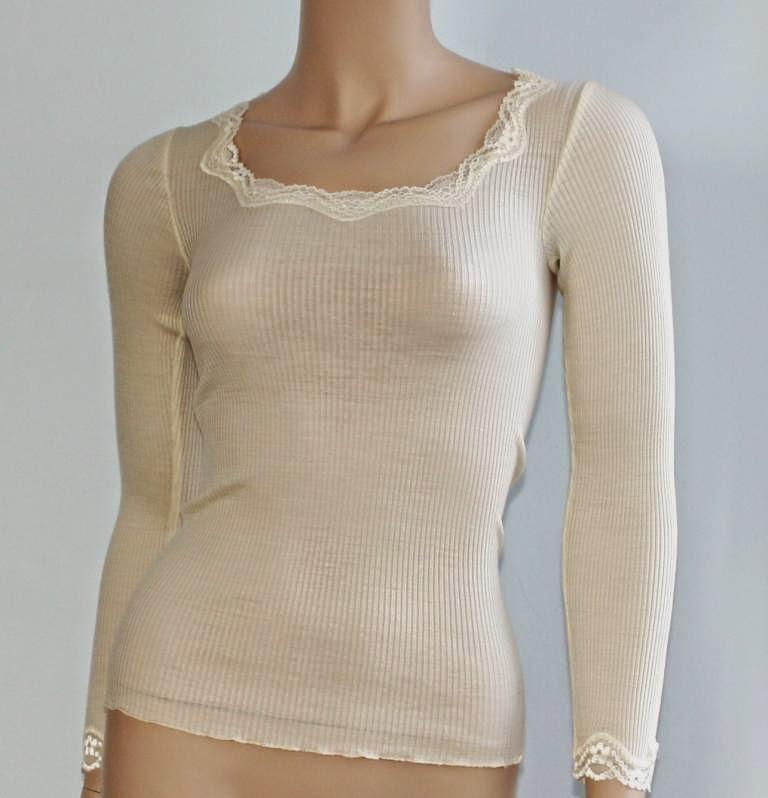 7c1e3ab184c630 Seide-Wolle Unterwäsche Boracay champagner-weiß von Gattina