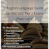 English language Guide for SSC CGL Tier-2 Exam (Part-1)