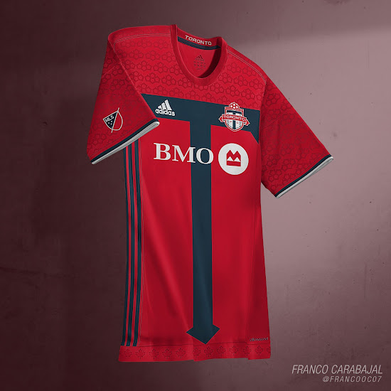 super popular 82440 331c6 Toronto FC 2016 Home Kit by Franco - Footy Headlines