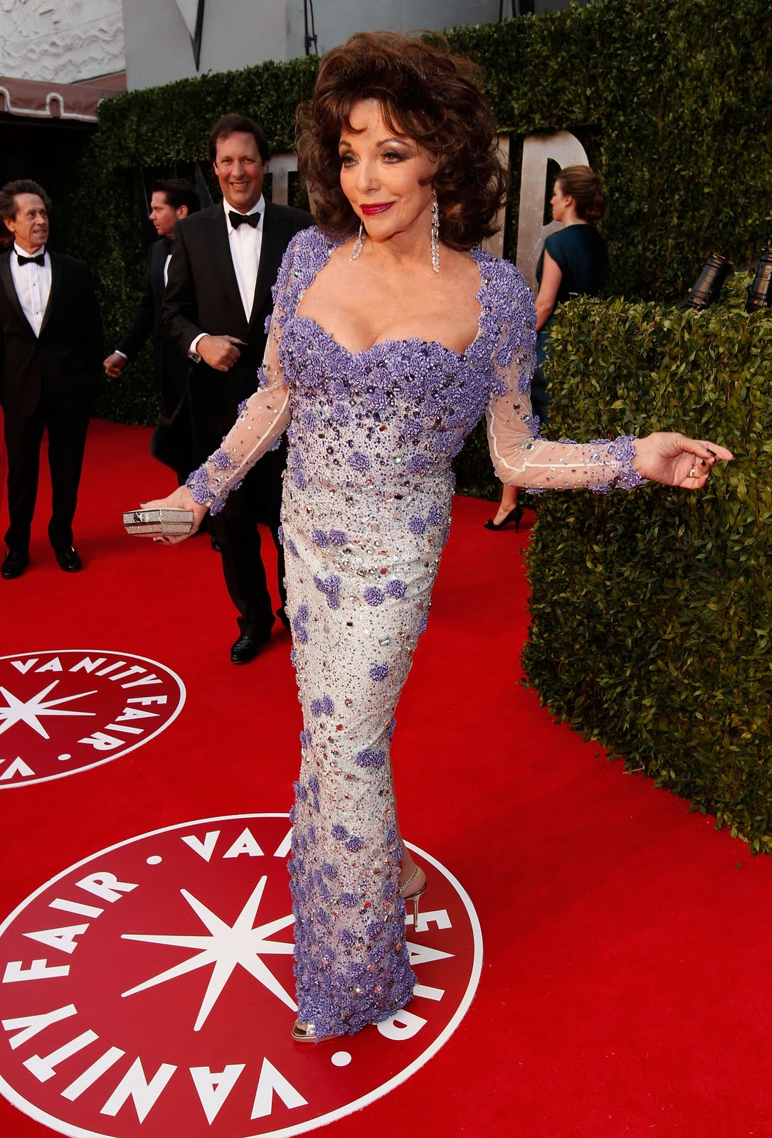 Lbcolby S Dynasty Blog Pix Joan Collins Most Recent Red