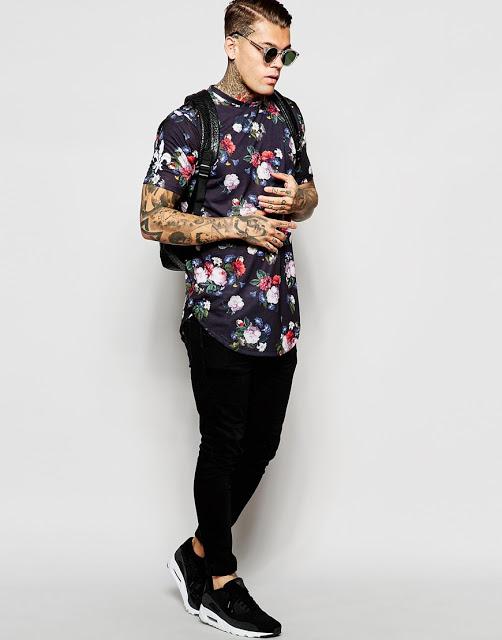 Look Masculino com Camiseta com Barra Abaulada