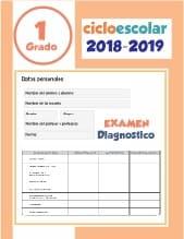 Examen de diagnostico Primer grado 2018-2019
