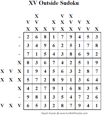 XV Outside Sudoku Solution
