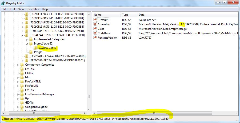Error when try to send email via Dynamic NAV 2009 R2 after install