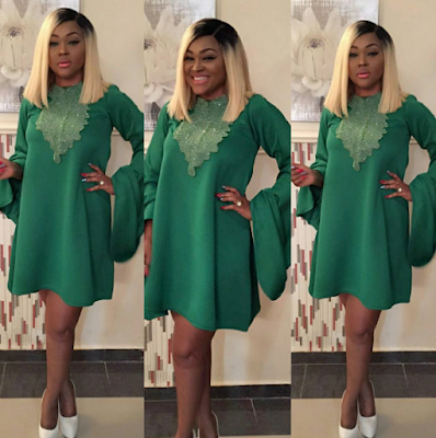 HO*T: Mercy Aigbe-Gentry stuns in green outfit
