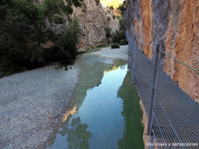 Pasarelas del río Vero, Alquezar, Aragón