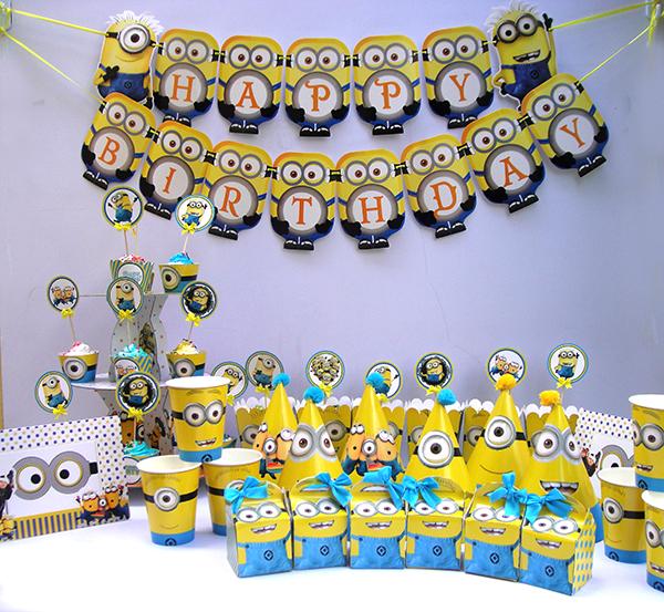 Phụ kiện sinh nhật chủ đề Minion giá rẻ
