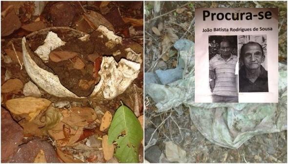 Restos mortais de aposentado desaparecido é encontrado no interior de Esperantina