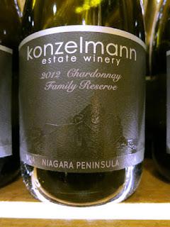 Konzelmann Chardonnay Family Reserve 2012 (90 pts)