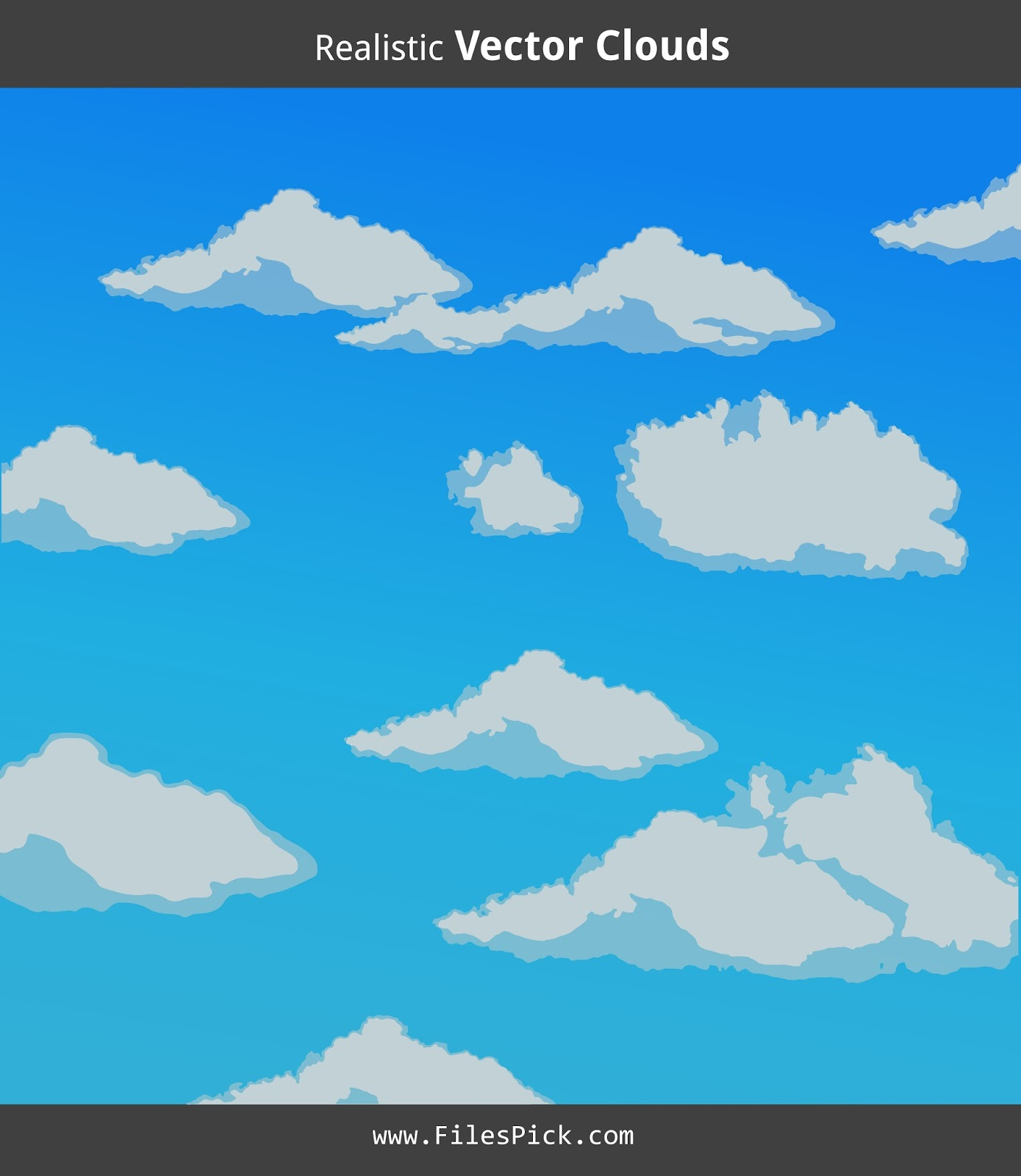Super Realistic Clouds Vector - Free Download