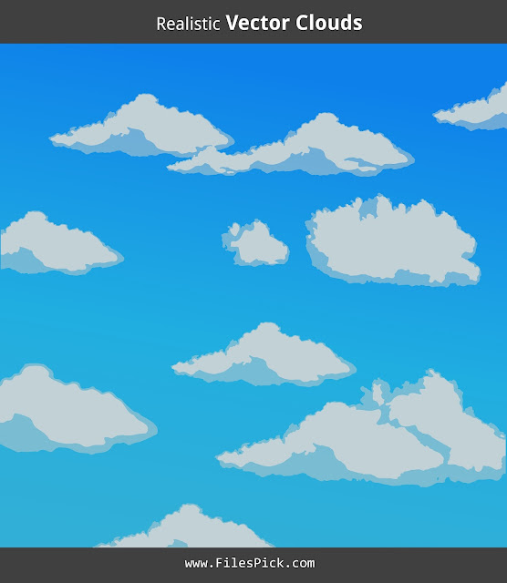 realistic clouds vector