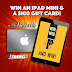 Apple iPad Mini tablet + $100 Apple gift card Giveaway, 75 Books Free for everyone #Worldwide