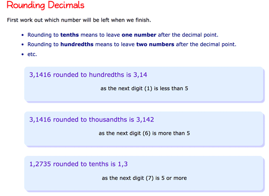 Rounding decimals explanation in Mathsisfun