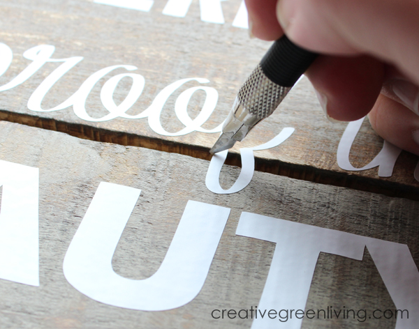 Lovely Peel away transfer tape at a sharp angle watching to be sure the letters all stick to the board Finally use scissors or a craft knife to cut away pieces