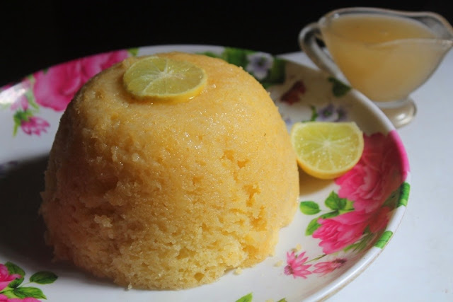 Steamed Lemon Pudding with Lemon Sauce