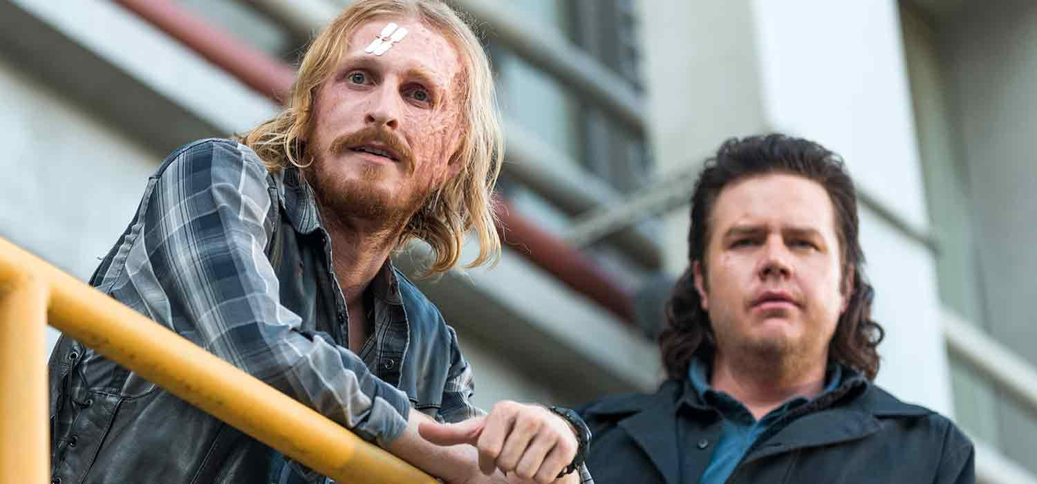 Dwight y Eugene en el episodio Hostilities and Calamities de The Walking Dead