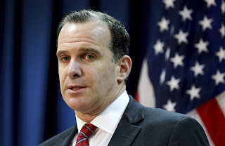 The United State envoy to the global coalition fighting the Islamic State group Brett McGurk has resigned in protest over President Donald Trump's abrupt decision to withdraw U.S. troops from Syria.