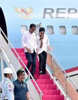 Presiden Republik Indonesia, Ir.  H.  Joko Widodo dan Ibu Negara, Hj.  Iriana Joko Widodo kembali melakukan kunjungan kerja ke Provinsi NTB