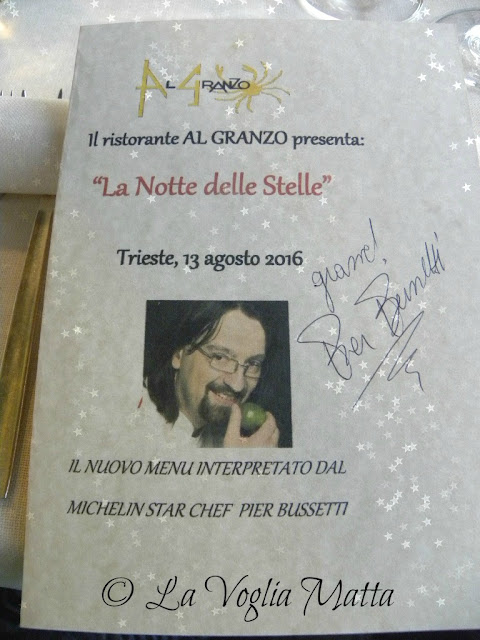 """Ristorante """"Al Granzo"""" Trieste - La Notte delle Stelle 13 agosto 2016"""