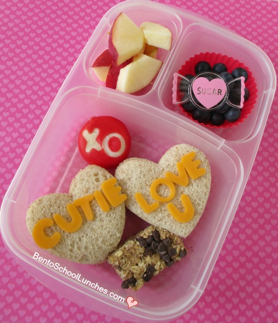 Conversation Hearts Valentine's Day Bento Lunch