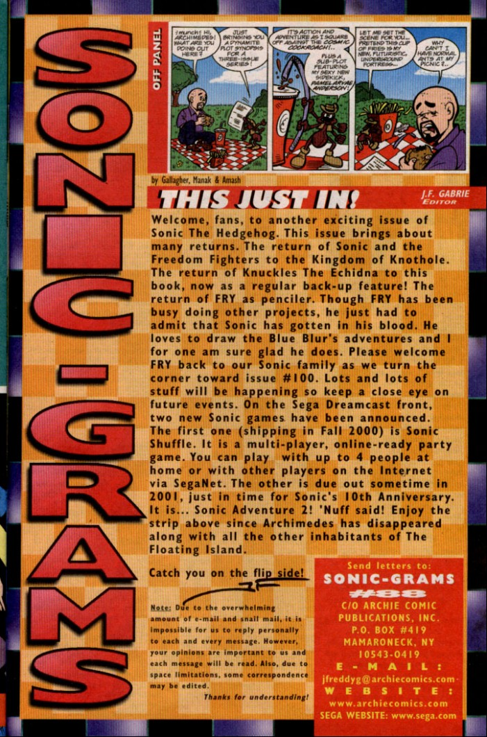 Read online Sonic The Hedgehog comic -  Issue #88 - 26