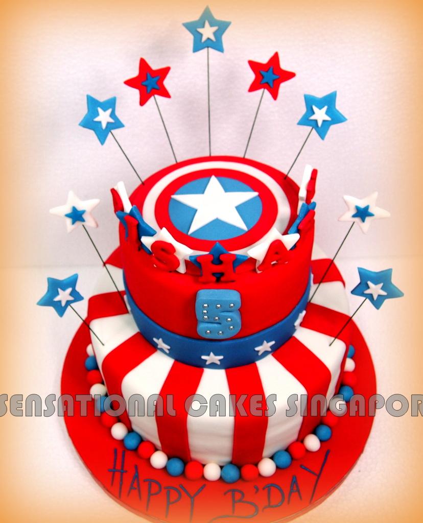 The Sensational Cakes Captain America Theme Cake