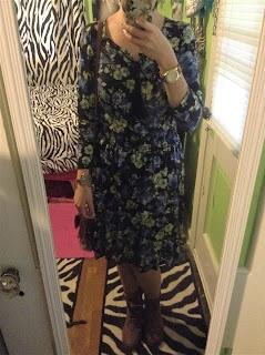 floral hi-lo dress ootd