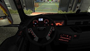 Red Dashboard for MAN TGX